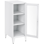 [US Warehouse] Office Lockers with 2 Adjustable Shelves 1 Door File Cabinet (White)