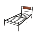 [US Warehouse] Simplified Metal Bed Frame, Size: 77.2×35.6×12.72 inch