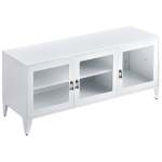[US Warehouse] Home Living Room Metal TV Cabinet with Storage Cabinet, Size: 47.3×13.8×20.3 inch