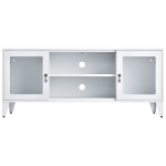 [US Warehouse] Modern Style Home Living Room Metal TV Cabinet with Cabinet, Size: 47.3×13.8×20.3 inch