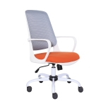 [US Warehouse] Height-adjustable Sponge Office Swivel Chair with Fixed Armrests, Size: (105.5-195.5) x 61 x 58.5cm