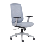 [US Warehouse] Height-adjustable Elastic Mesh Sponge Cushion Office Swivel Chair with Adjustable Armrests, Size: (100-110) x 62 x 57.5cm