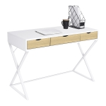 [US Warehouse] X-shaped Leg Design Home Computer Desk with Three Drawers, Size: 110 x 75 x 50cm