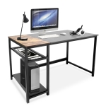 [US Warehouse] Simple Style Home Office Computer Desk with 2 Storage Racks, Size: 120 x 75 x 60cm