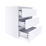 [US Warehouse] MDF Board Multifunctional Bedside Cabinet Office Filing Cabinet with 3 Drawers, Size: 55.5 x 45 x 38cm