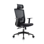 [US Warehouse] Height-adjustable Mesh Sponge Cushion Office Swivel Chair with Adjustable Headrest / Lumbar Support & Fixed Armrest, Size: (116.5-126.5) x 67 x 59cm