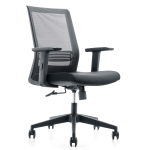 [US Warehouse] Height-adjustable Mesh Cloth Cushion Office Swivel Chair with Adjustable Lumbar Support & Fixed Armrest, Size: (91-101) x 70.5 x 70.5cm