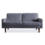[US Warehouse] Solid Wood Frame Linen Fabric Two-seat Sofa, Size: 180 x 82 x 77cm(Grey)