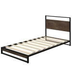 [US Warehouse] Household Twin Metal Bed Frame with Wood Slats
