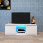 [US Warehouse] Simpleness Creative Furniture High-Gloss TV Cabinet with LED Lights, Size: 47.24×15.75×15.75 inch