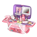 [US Warehouse] 26 in 1 Children Simulation Portable Little Princess Makeup Box Pretend Play Toy Set