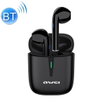 awei T21 Bluetooth V5.0 Ture Wireless Sports TWS Headset with Charging Case (Black)