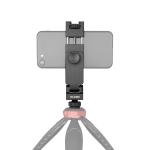 YELANGU PC10 360 Degree Rotating Horizontal Vertical Shooting Phone Clamp Holder Bracket (Black)