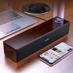 YINDIAO A36 Smart Subwoofer Computer Speaker, Wood Texture Rotary Button Wired Version