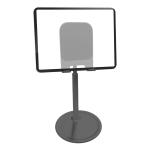 TCP-02 Universal 4-10 inch Phone Tablet Non-slip Aluminum Metal Holder Stand Adjustable Desktop Tablet Bracket Mount, Version: Generation Telescopic (Black)