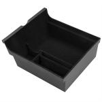 Multi-function Car Central Control Storage Box with Anti-slip Pad for Tesla Model 3 / Y 2021, Flocking Version (Black)