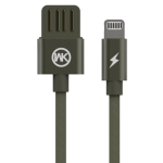 WK WDC-055 2.4A 8 Pin Babylon Aluminum Alloy Charging Data Cable, Length: 2m (Green)