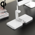 K04 4 in 1 10W Qi Standard Wireless Charger for Mobile Phones & iWatch & AirPods (White)
