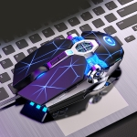 YINDIAO 3200DPI 4-modes Adjustable 7-keys RGB Light Wired Gaming Mechanical Mouse, Style: Audio Version (Black)