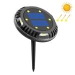 TG-JG00127 10 LEDs Solar Outdoor Waterproof Plastic Garden Decorative Ground Plug Light Intelligent Light Control Buried Light, White Light