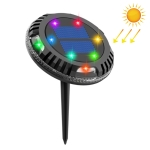 TG-JG00126 10 LEDs Solar Outdoor Waterproof Plastic Garden Decorative Ground Plug Light Intelligent Light Control Buried Light, Colorful Dimming