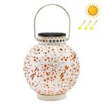 SZ-20004 Solar Lantern Wrought Iron Hollow Lawn Lamp Outdoor Garden Decorative Lamp