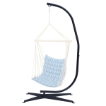 [US Warehouse] Indoor or Outdoor Metal Hanging Type C Hammock Chairs, Durable 300 Pound Capacity
