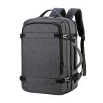 OUMANTU 1907 Large Capacity Men Laptop Backpack Business Travel Shoulders Bag with External USB Charging Port (Black)
