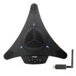YANS YS-M21W USB Mini Port Video Conference Omnidirectional Microphone (Black)