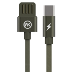 WK WDC-055 2.4A Type-C / USB-C Babylon Aluminum Alloy Charging Data Cable, Length: 2m (Green)