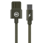 WK WDC-055 2.4A Micro USB Babylon Aluminum Alloy Charging Data Cable, Length: 2m (Green)