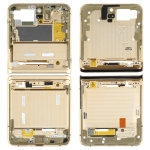Top + Lower Middle Frame Bezel Plate for Samsung Galaxy Z Flip 5G SM-F707(Gold)