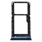 SIM Card Tray + SIM Card Tray / Micro SD Card Tray for Xiaomi Redmi Note 9 Pro 5G M2007J17C (Blue)