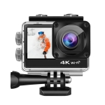 C1 Dual-Screen 2.0 inch + 1.3 inch Screen Anti-shake 4K WiFi Sport Action Camera Camcorder with Waterproof Housing Case,  Allwinner V316, 170 Degrees Wide Angle (Black)
