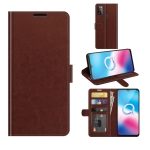 For Alcatel 1S 2021/3L 2021 R64 Texture Single Horizontal Flip Protective Case with Holder & Card Slots & Wallet& Photo Frame(Brown)