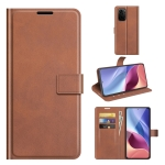 For Xiaomi Poco F3 / Redmi K40/K40 Pro Retro Calf Pattern Buckle Horizontal Flip Leather Case with Holder & Card Slots & Wallet(Light Brown)