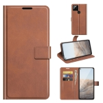 For Google Pixel 5A Retro Calf Pattern Buckle Horizontal Flip Leather Case with Holder & Card Slots & Wallet(Light Brown)