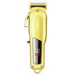 VGR V-278 10W USB Metal Electric Hair Clipper with LED Digital Display(Gold)