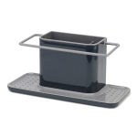 Kitchen Multifunctional Sponge Rag Drain Rack Desktop Convenient Shelf (Black)