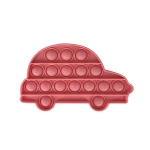 5 PCS Child Mental Arithmetic Desktop Educational Toys Silicone Pressing Board Game, Style: Car (Pink)