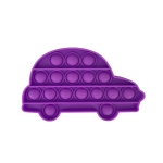 5 PCS Child Mental Arithmetic Desktop Educational Toys Silicone Pressing Board Game, Style: Car (Purple)