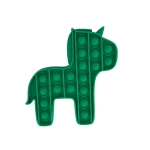 5 PCS Child Mental Arithmetic Desktop Educational Toys Silicone Pressing Board Game, Style: Pony (Green)
