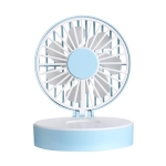 USB Mini Handheld Vanity Mirror Fan(Blue)