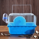 2 PCS Hamster Cage Portable Take-Out Cage Hamster Golden Bear Supplies(Blue)
