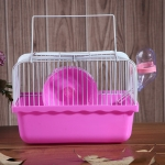 2 PCS Hamster Cage Portable Take-Out Cage Hamster Golden Bear Supplies(Pink)