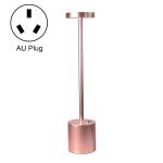 JB-TD003 I-Shaped Table Lamp Creative Decoration Retro Dining Room Bar Table Lamp, Specification: AU Plug(Rose Gold)