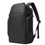 BANGE BG-7277 Business Large Capacity Backpack Men Waterproof Travel Computer Backpack(Black)