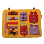 GL03 Early Education Toys Children Teaching Aids Dressing Learning Board(Yellow )