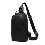 BANGE BG-8593 Men Messenger Bag Multifunctional Outdoor One-Shoulder Bag with External USB Charging Port(Black)
