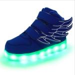 Children Colorful Light Shoes LED Charging Luminous Shoes, Size: 34(Blue)